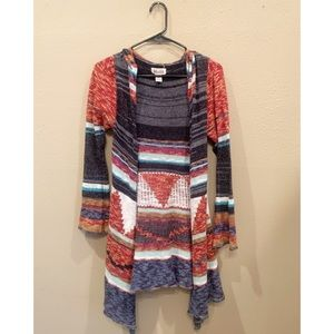 MUDD multi color cardigan